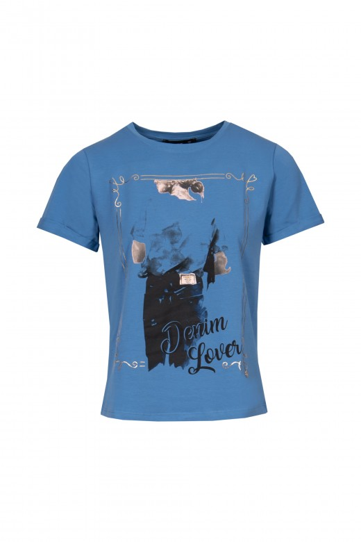 Camiseta estampada denim lover