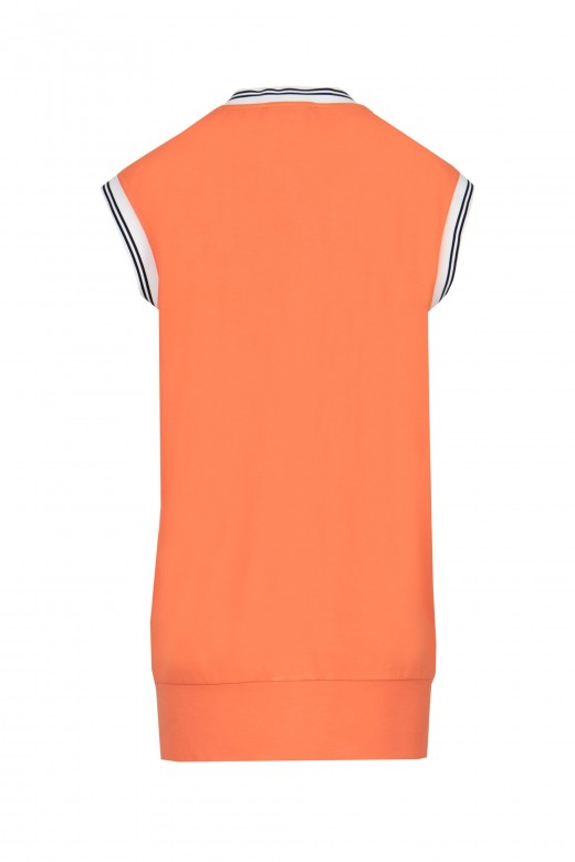 Long vest with straight strap
