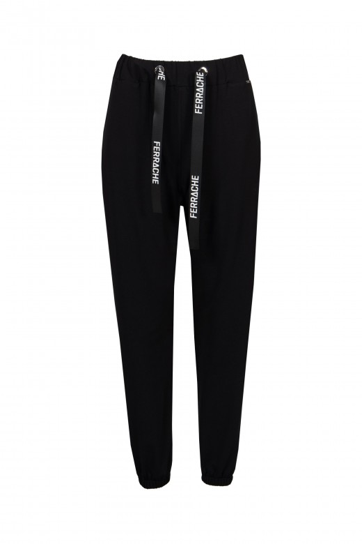 Stretch logo jogging trousers