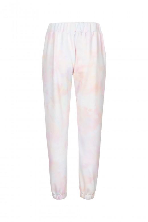 Pantalones jogger con efecto tie dye