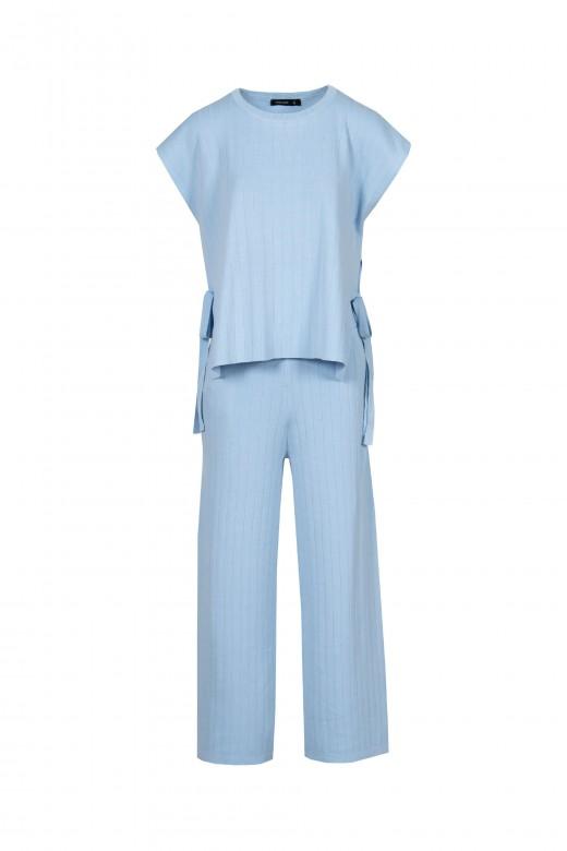 Conjunto de malla con pantalón de lazo lateral cullote