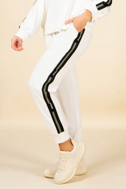 Side stripe logo joggers
