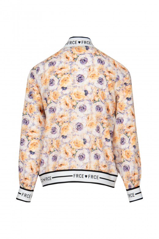 Printed bomber jacket with logo
