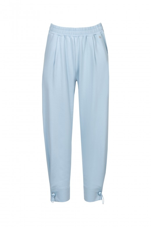Plush jogger pants with leg regulator