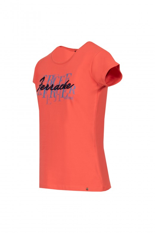 Embroidered printed t-shirt