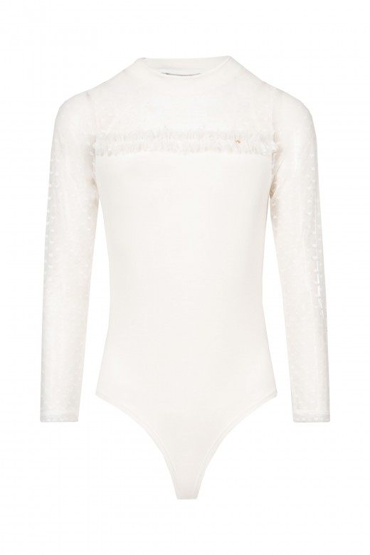 Bodysuit with tulle