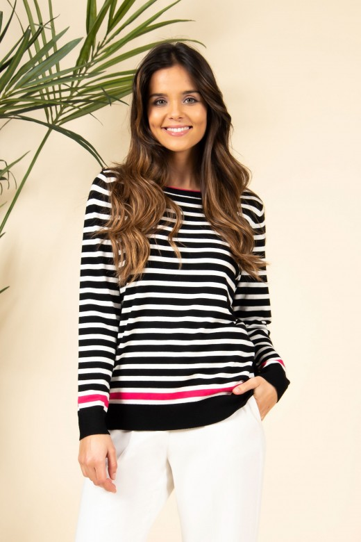 Marine striped knit sweater