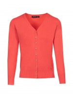 Basic v-neck knit jacket