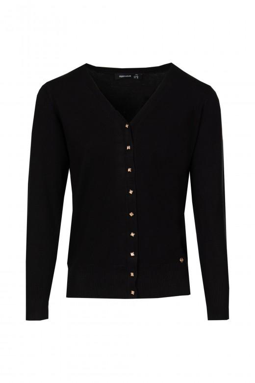Basic v-neck knit jacket