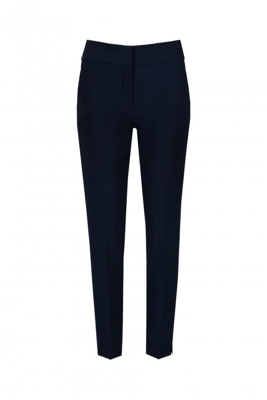 Skinny elastic waist trousers
