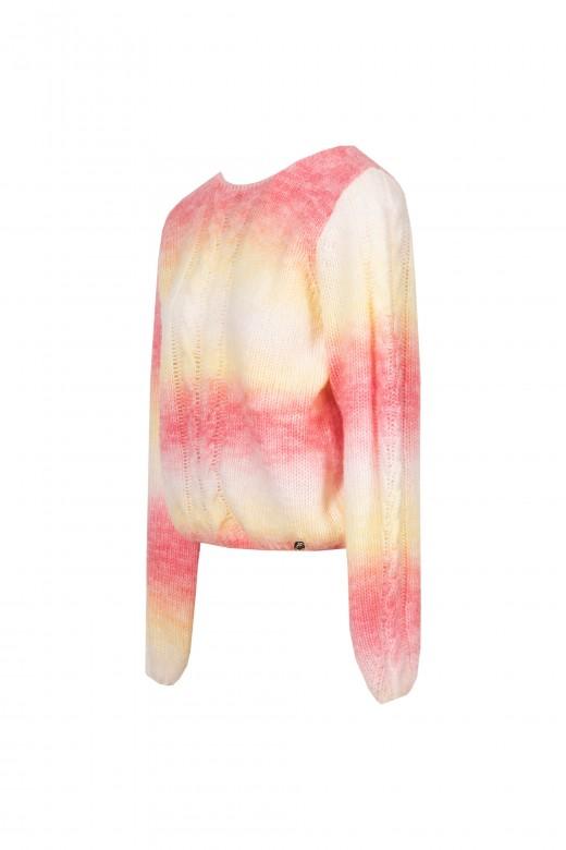 Jersey de punto con efecto tie dye