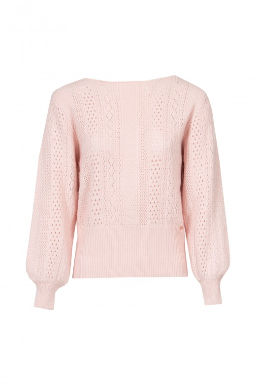 Shawl knitted sweater