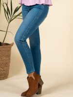 Skinny jeans with application