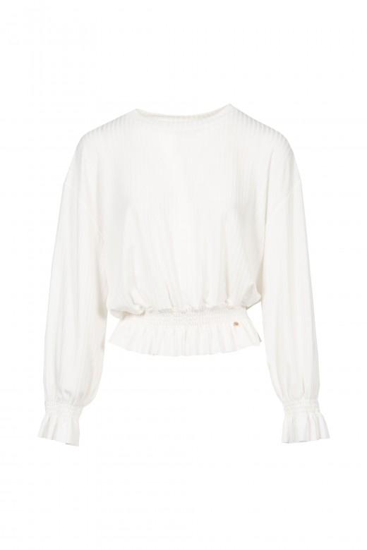 Sweater canelada volante