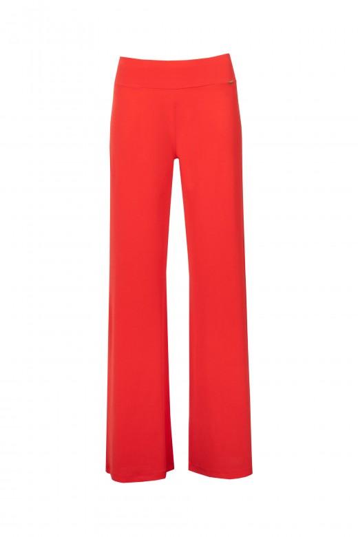 Wide-leg basic trousers
