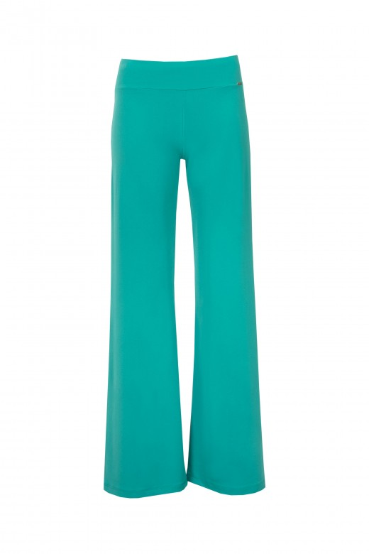 Wide-leg basic trousers