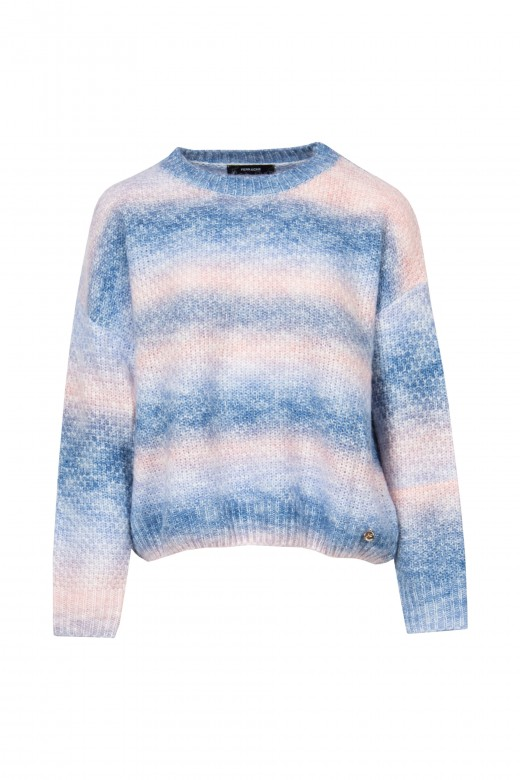 Knitted tie dye sweater