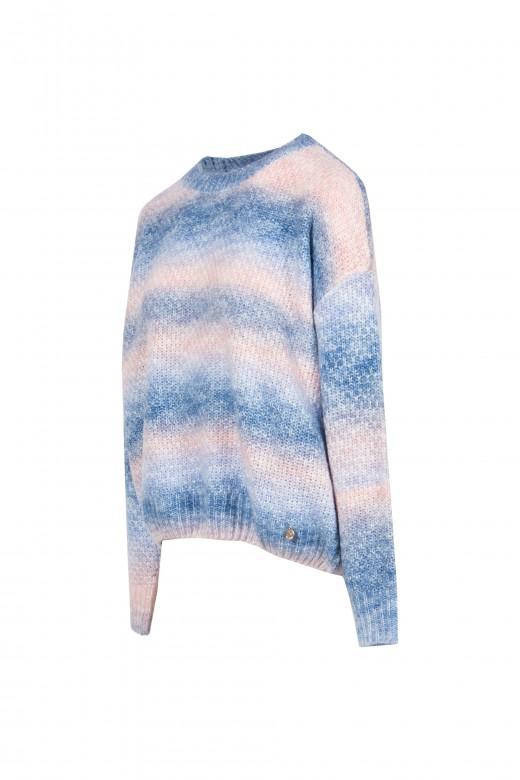 Camisola de malha tie dye