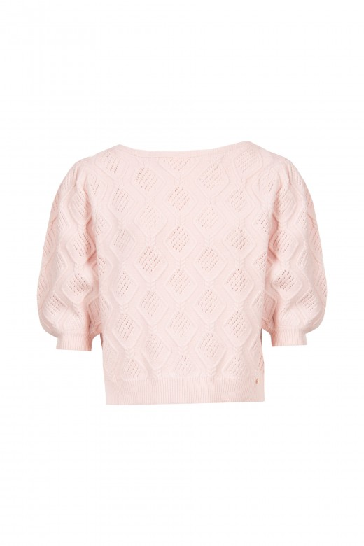 Short-sleeved knitted sweater