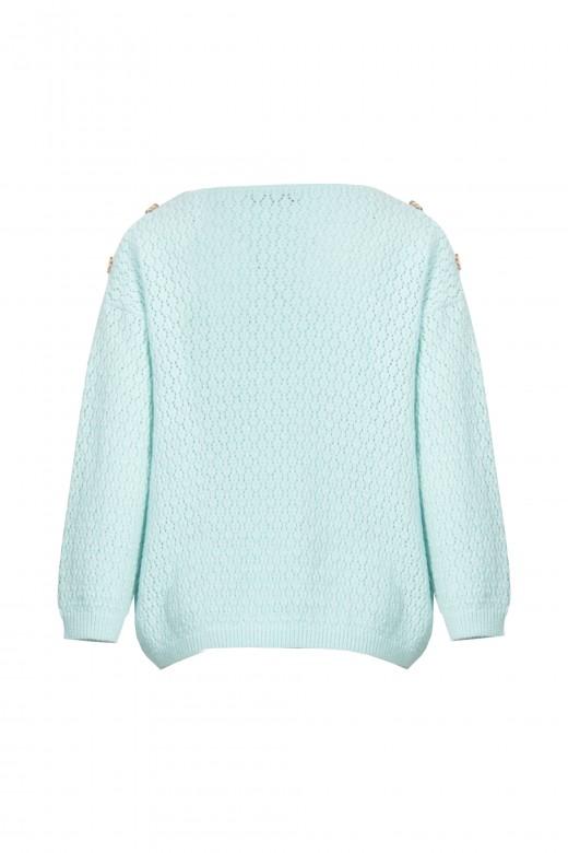 Round neckline knitted sweater