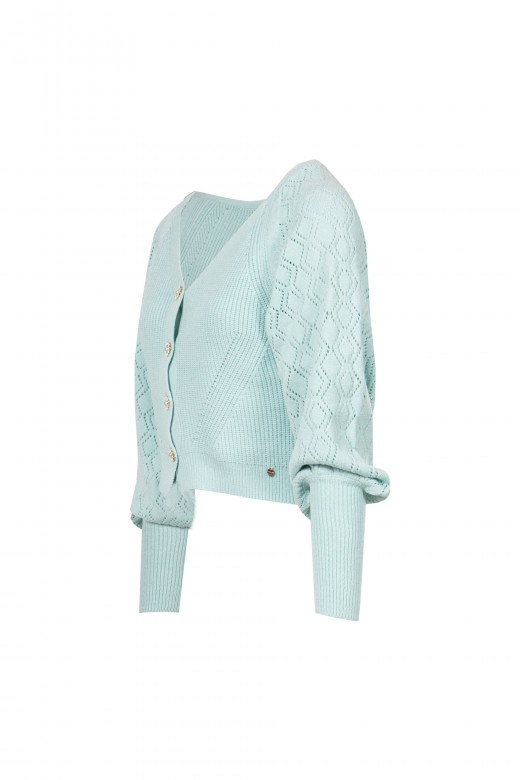 Knitted jacket with cuffs