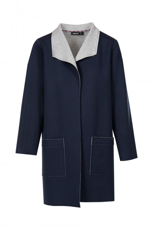Double-knit coat