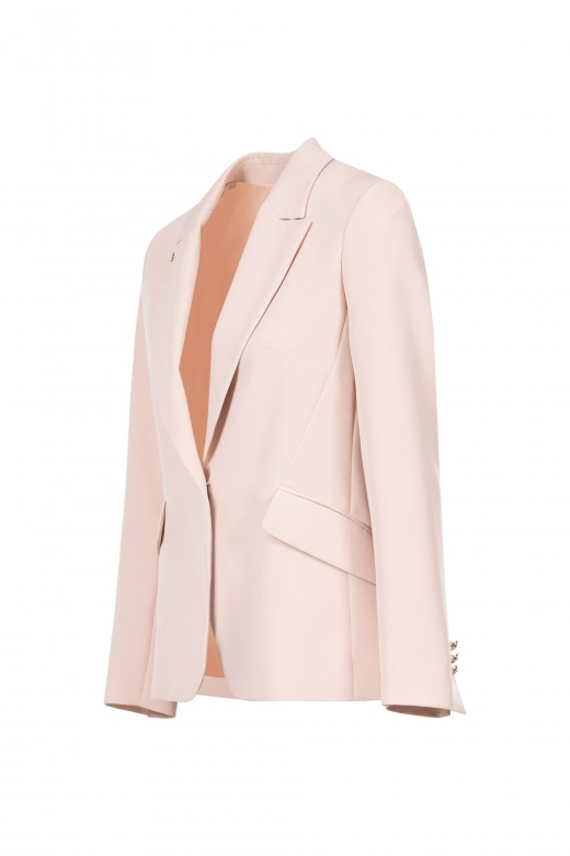 Tailored blazer with collar