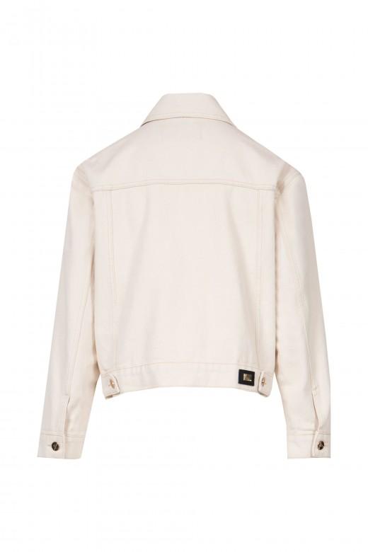 Denim jacket with front pockets