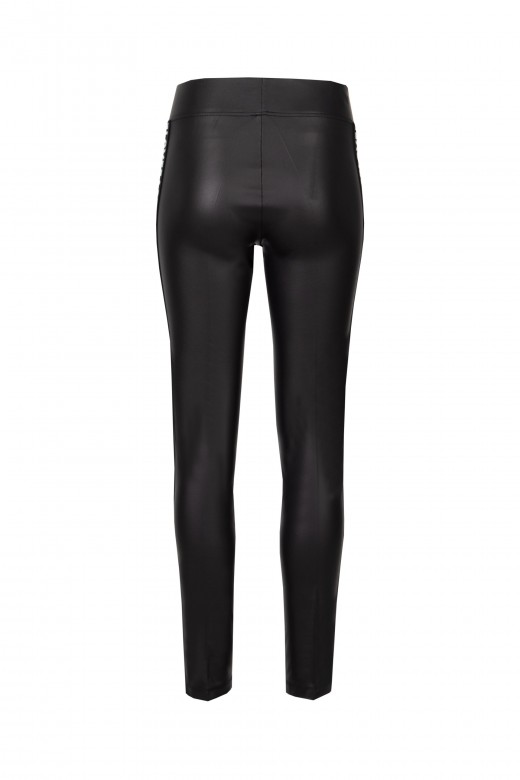 Faux leather leggings love
