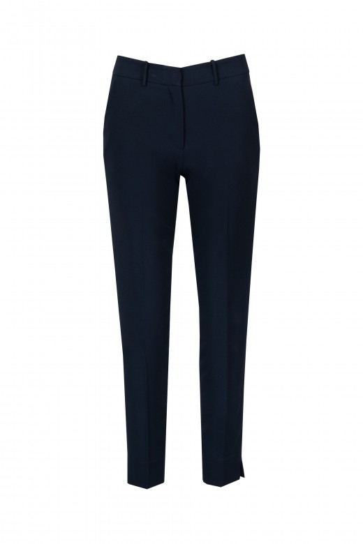 Basic mid-waist trousers