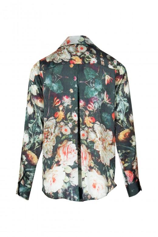 Blusa floral de manga larga