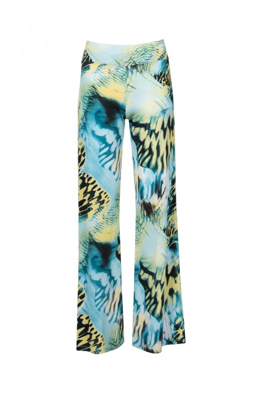 Knit printed trousers