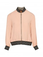 Bomber jacket with elastic cuff
