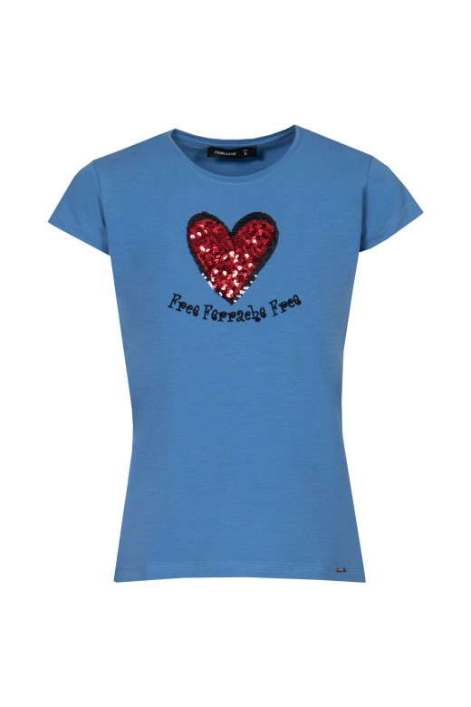 Sequined application t-shirt