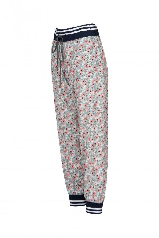 Jogger pants belt and elastic cuff