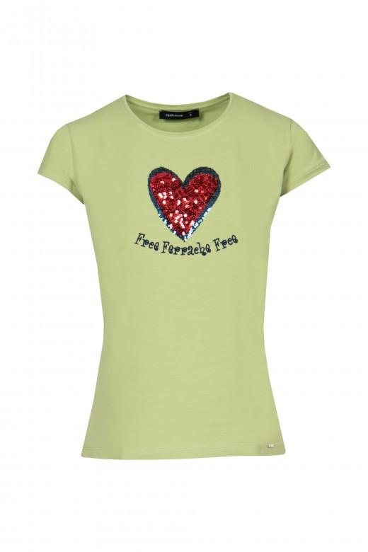 T-shirt aplicação lantejoulas