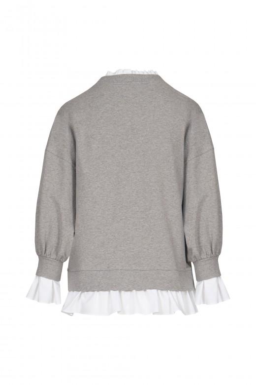 Poplin finish sweater