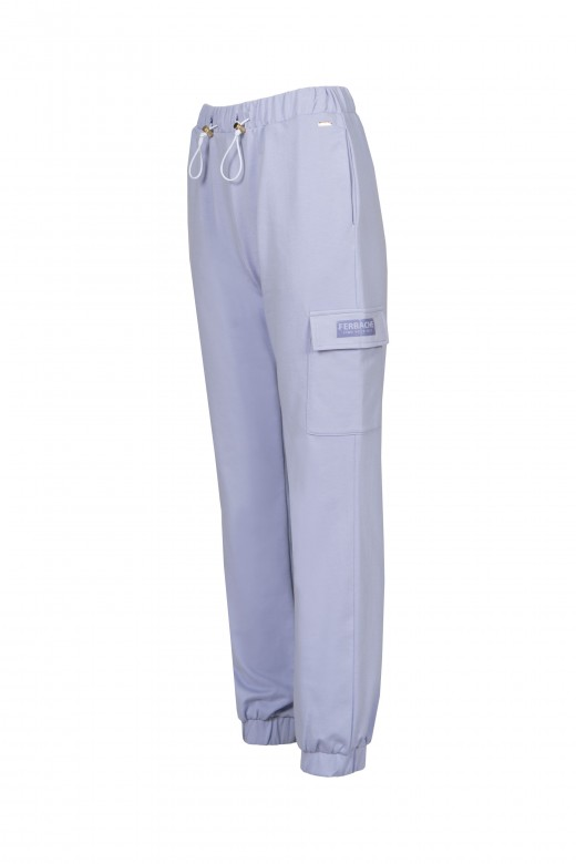 Jogger pants with cuffs