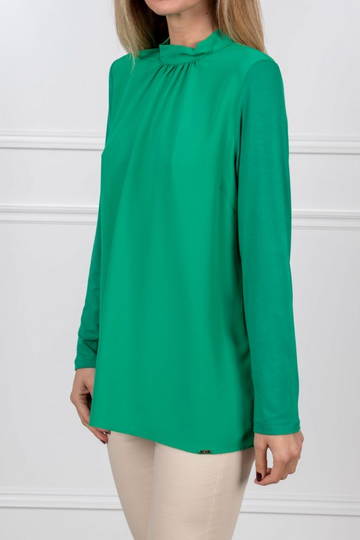 High collar tunic with loop