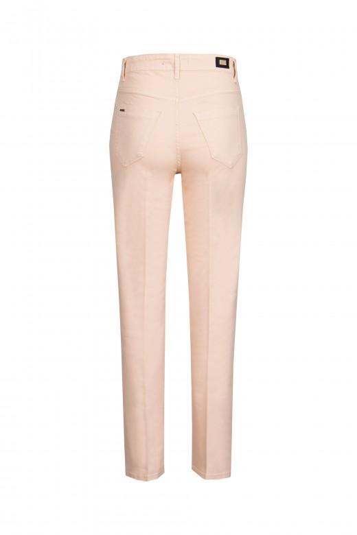 Calça sarja cintura subida