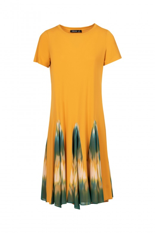 Midi dress with tie dye opening