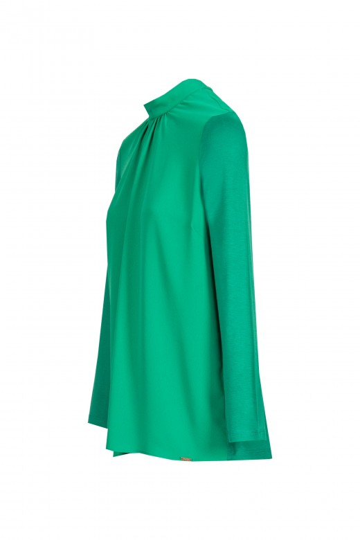 High collar tunic with loop