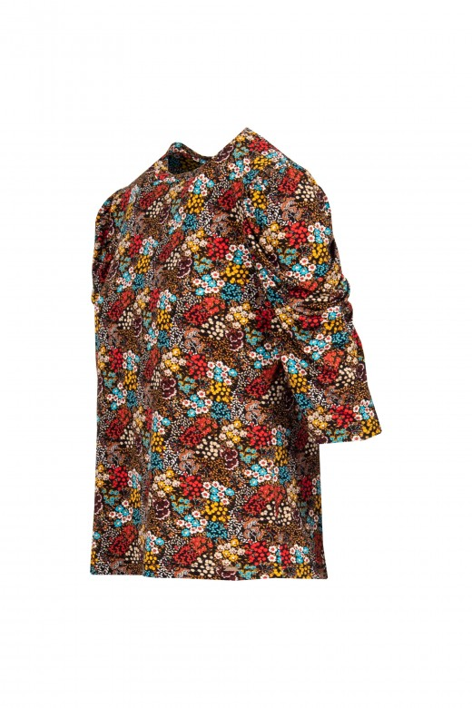 Camisola manga drapeada
