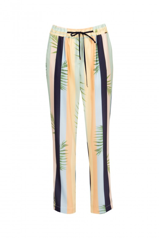Striped fluid trousers