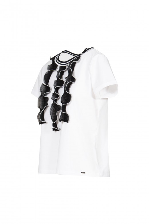 Frills front t-shirt