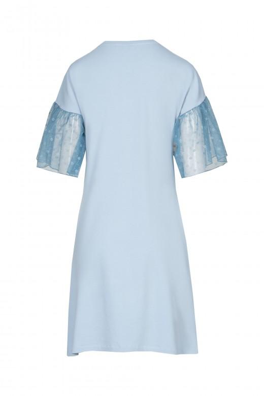 Tulle sleeve dress