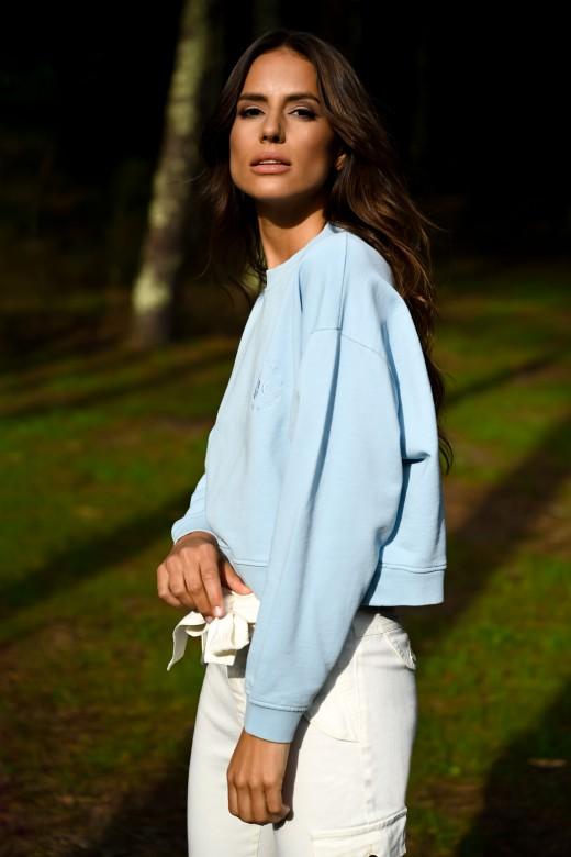 Sweater malha com bordado
