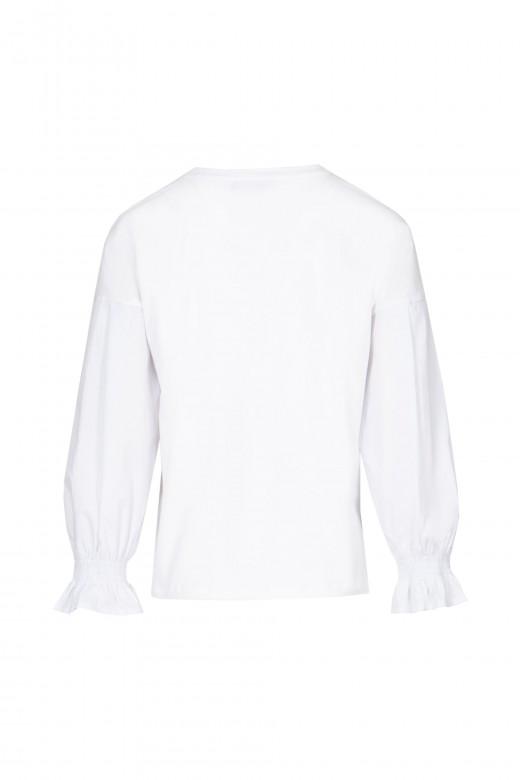 Poplin sweater