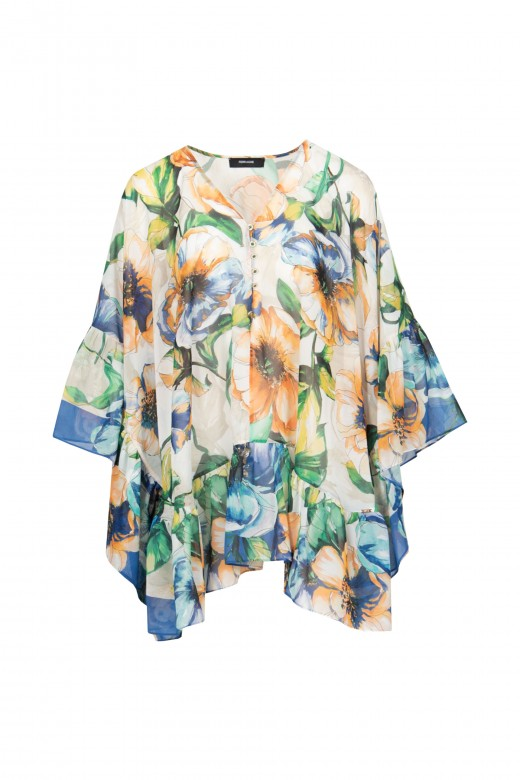Oversize floral tunic