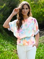 Belted floral tunic